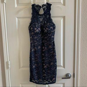 My Michelle Navy Banquet Dress- 3